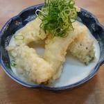 割烹 くにべ - 穴子ネギ天ぷら580円
