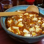 玉蘭 - 極辛麻婆麺。小ライスを注文して、麻婆丼も楽しめます!