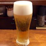のだ麺 ~縁~ - 「生ビール」(450円)。