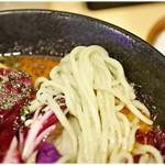東京担々麺 RAINBOW - ムニュムニュっとした麺。