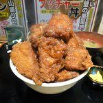 特選大衆焼肉 脂屋肉八 - ソース勝つドン(ヘビー級)1,180円