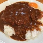 カレーハウス キラリ - カツカレー+生卵