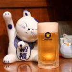 居酒屋 太郎さん - 招き猫と生ビール♪