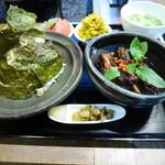 茉莉花 - 三元豚と焦し玄米の蜂蜜煮 & 焼海苔ご飯の膳