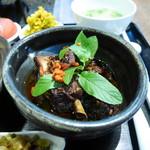 茉莉花 - 三元豚スペアリブと焦し玄米の蜂蜜煮