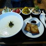 茉莉花 - 上海粥&特選大根餅の膳