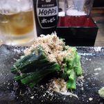 大定 - 料理写真:ニラのお浸し[350円]