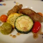 シャテール - ロゼール産リーダニョー 夏野菜サラダ仕立て