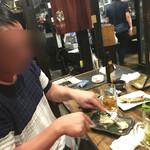 川崎銀柳街のひもの屋 - 意外にナイフとフォークで食ってたりして