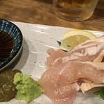 川崎銀柳街のひもの屋 - タタキ鷄