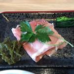 うどん 寿製麺 - 低温調理の豚