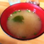 69445255 - 小ハマグリの味噌汁