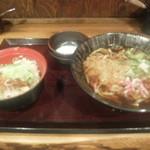 69445338 - タレカツ丼、タヌキ蕎麦、温泉玉子