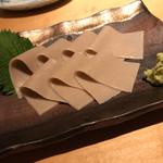 初代 桜庵  - 料理写真:初めて食べた蕎麦刺し 感動しました!