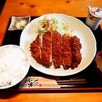 まるいち亭 - ジャンボチキンカツ定食980円
