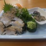 四ツ木製麺所 - アワビ刺身