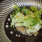 69447887 - レンズ豆と大山鶏ハムのサラダ