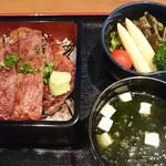 うなぎ千草 - 料理写真:三ヶ日牛サーロインステーキ重