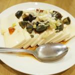 佳名℃ - 晩酌セット(980円・外税)のピータン豆腐