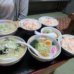 味の味噌一 - 朝定食×3+ベビーラーメン2017.07.02