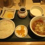 国産二八蕎麦 蕎香 - 朝定食(生玉子、国産とろろ)