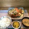 キッチン彩 - 料理写真:『本日のおすすめ』の和風おろしハンバーグ 白身魚のフライ('17/07/02)