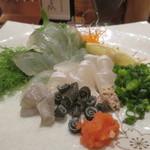 ろばた仁 - 料理写真:城下かれい刺身