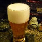 うの屋 - ☆キメ細かい泡の生ビールですね♪☆