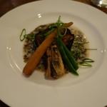 見晴料理店 - 穴子煮と米茄子の田楽