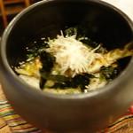 見晴料理店 - 鮎と茗荷の炊き込みご飯