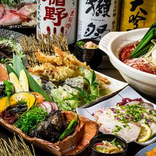 獺祭をはじめ厳選日本酒を各種ご用意