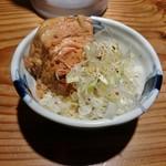 麺処 篠はら - 角煮めし 250円