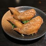宮きしめん竹三郎 - 手羽先唐揚げ 1本 ¥160