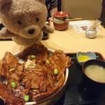 69468124 - 半ばら豚丼(特盛)