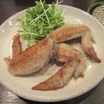 手打そば 蕎○ - 料理写真:「鶏手羽の山椒焼き」
