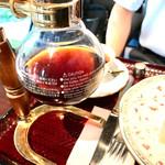 和の香 珈琲 - セットのブレンドは、和の香名物、サイフォンで出て来ます♪