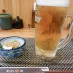 葉隠亭 - ビール&お通し