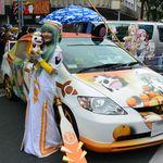 葉隠亭 - おまけ(この日は『豊橋ぽぷかる歩行者天国7』と称したイベントで広小路通りはコスプレイヤーさん&痛車展示などで賑わっていました)