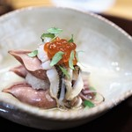 赤坂 詠月 - 蛍烏賊 いくら 鳥貝のヒモ