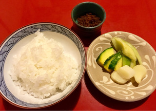 三嶋亭 本店 - 白飯セット(白米と牛肉のしぐれ煮と香の物)
