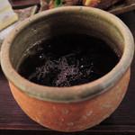 Cafeゆう - ドリンクはアイスコーヒー。 クロワッサンサンドとよく合います。