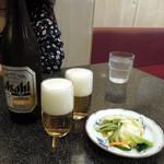 みのや - 中瓶ビール500円