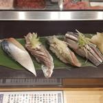 立食い寿司 根室花まる - さば あじ いわし さんま