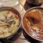 ニューカトマンズキッチン - タイ料理もメニューにあります グリーンカレーだってセットに