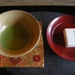 カフェ うかれ雲 - (館内撮影禁止ですが料理のみ撮影許可済)抹茶セット