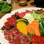 焼肉 赤牛 - サンチュ    盛込み ¥4,525
