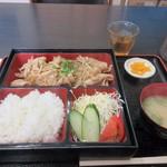 姫だるま - 暫く待つと注文した生姜焼き定食680円の出来上がりです。
