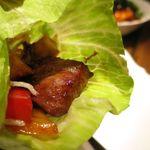 水蓮月 - A5等級和牛肉の炒めレタス包み
