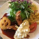 洋食Mogu - 海老フライとハンバーグ