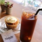 メイホクコーヒー - アイスコーヒーとキャロットケーキ